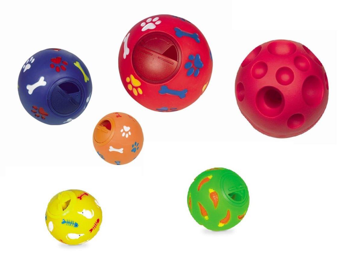 Futterball Snackball 4 Größen für Hunde Katzen Nager Spielball Kunststoff Ball