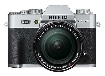 FUJIFIM X-T20 Digital Camera Lens Kit XF18-55mm F2.8-4 Silver EMS w/Tracking NEW