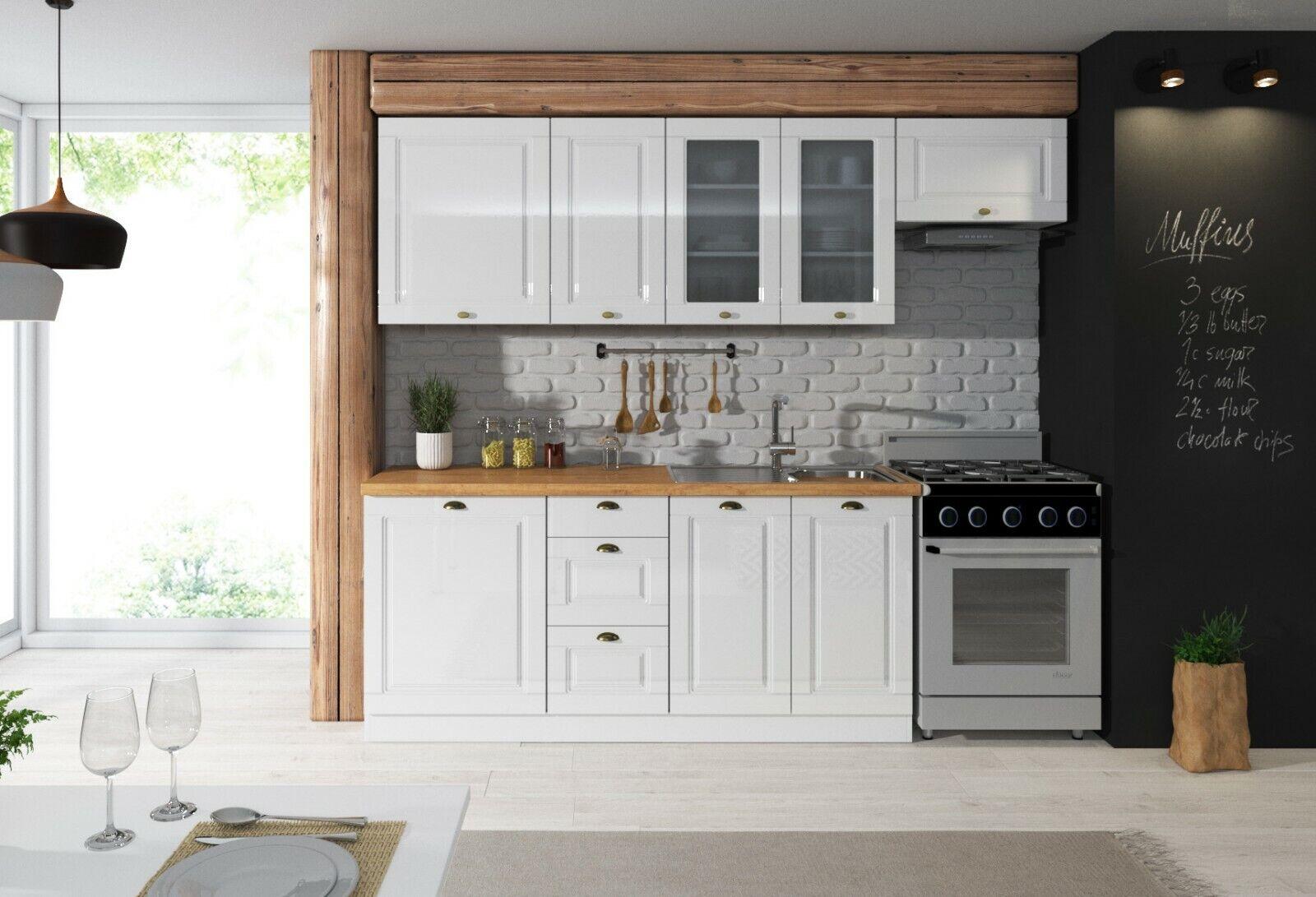 white gloss country modern kitchen 7