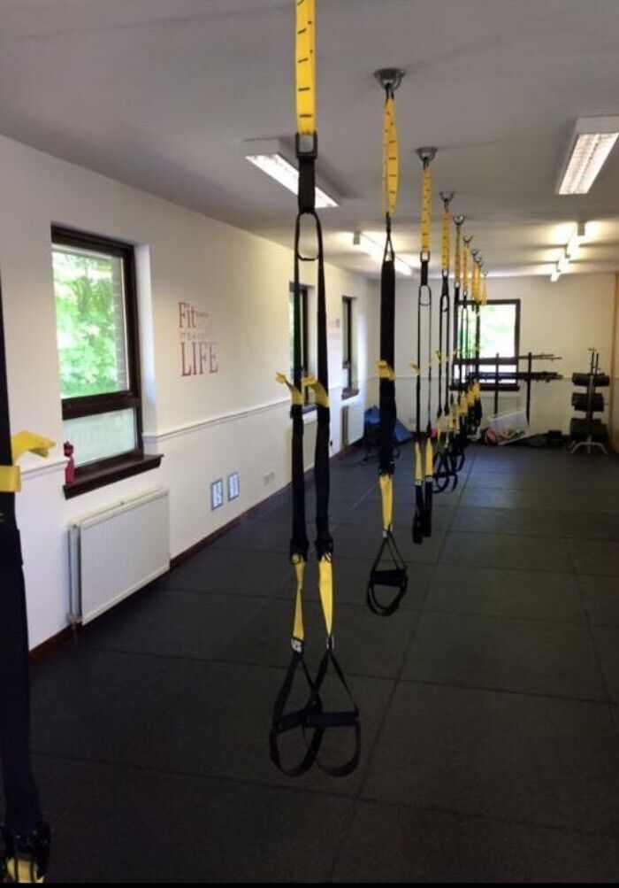 Trx Style Straps And Ceiling Hooks In Lasswade