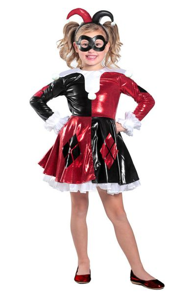 Girls Harley Quinn Premium Halloween Costume