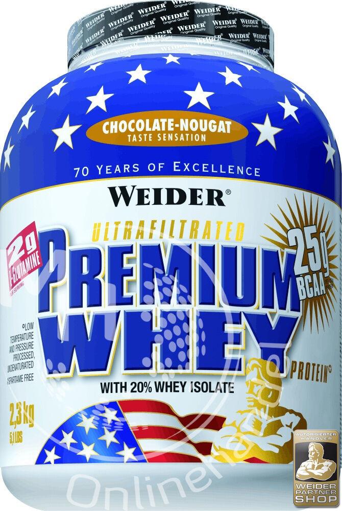 Weider Premium Whey 2,3Kg Dose (22,39€/Kg) Protein BCAA Eiweiß Shake !AKTION!