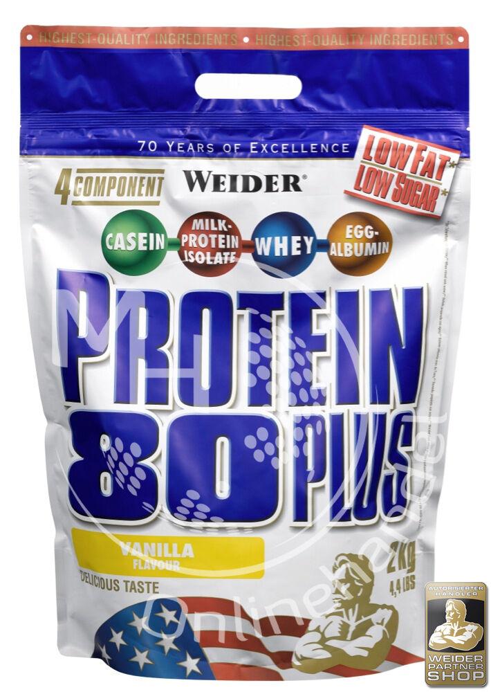 Weider Protein 80 Plus 2Kg Beutel (23,25€/Kg) Mehr-Komponenten Eiweiß Shake