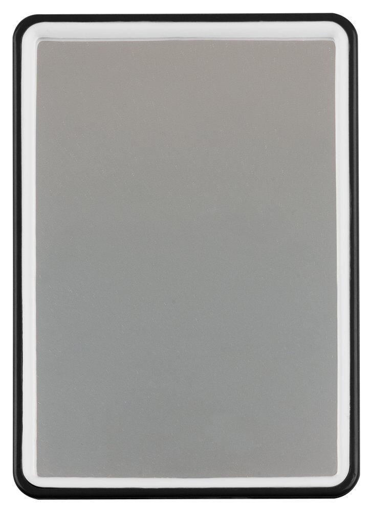 Titania Handspiegel, Rasierspiegel zum Aufstellen, schwarz, weiß o. orange -3059