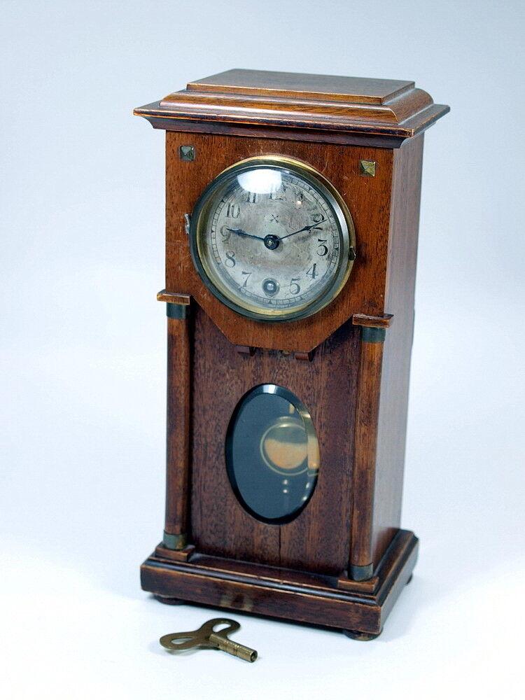 schöne alte PFEILKREUZ SALONUHR KAMINUHR TISCHUHR Uhr um 1890 Pendule