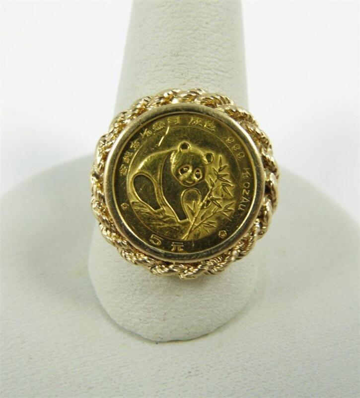 Gold Coin Ring EBay