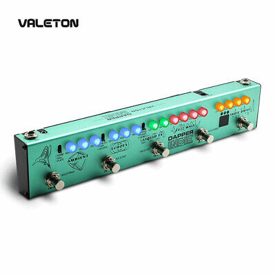 Valeton Multi Effects Guitar Pedal Distortion Reverb Delay Chorus Fuzz And Phase