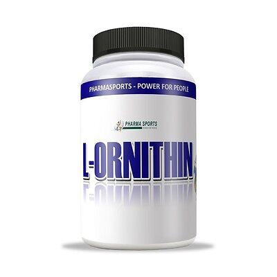 L-Ornithin, 100% reines Pulver, Dose 300g für Training Pump Muskeln