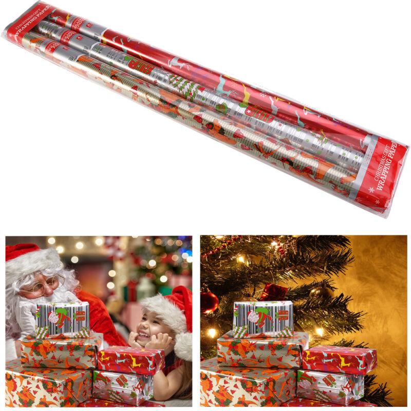4m x0,7m Geschenkpapier Geburtstag Feier Neutral Weihnachten 3 Rollen