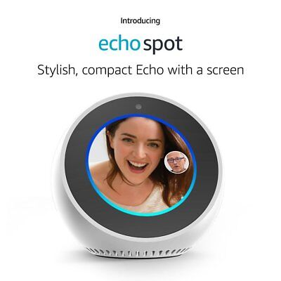 Amazon Echo Spot Alexa WHITE BRAND NEW - with Warranty ✔✔ FREE USA SHIPPING✔✔