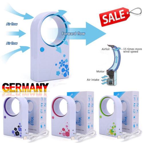 USB Rotorloser Ventilator Lüfter Klimagerät Tischventilator Mini Klimaanlage Fan