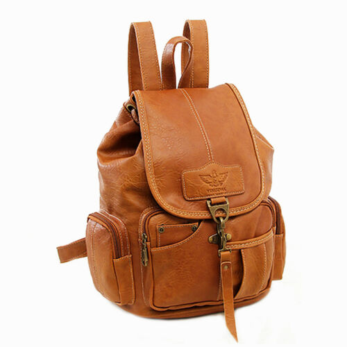 Vintage Womens Leather Backpack Shoulder School Shoulder Satchel HandBag Travel 11
