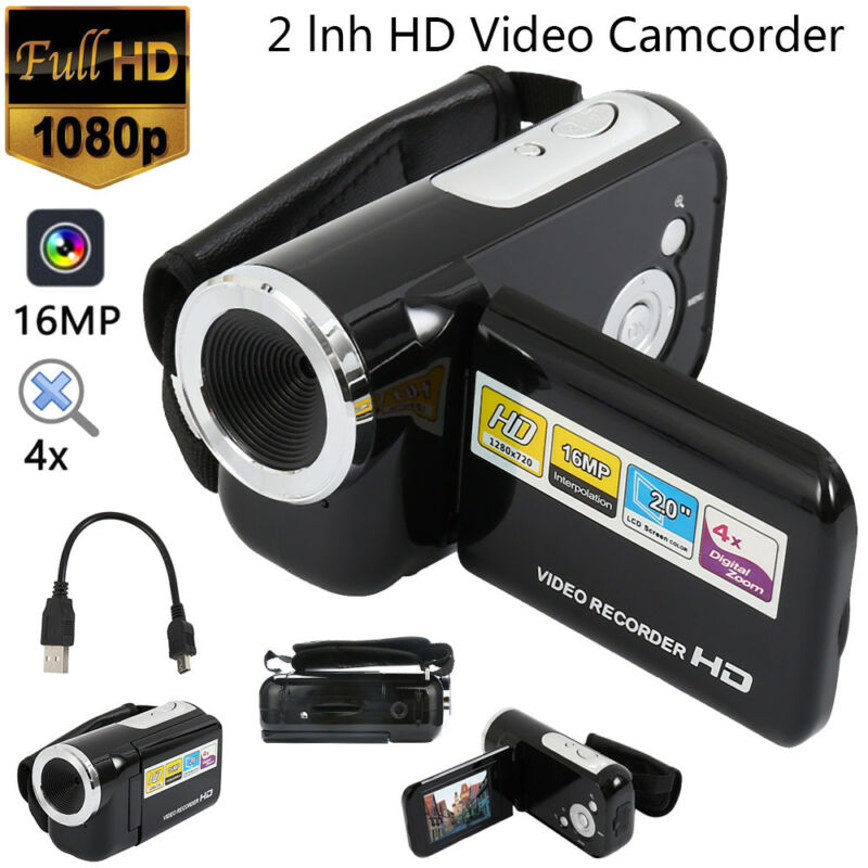 HD 1080P FULL Camcorder Digital Videokamera LCD 24MP 16x Zoom DV HDMI CAMERA