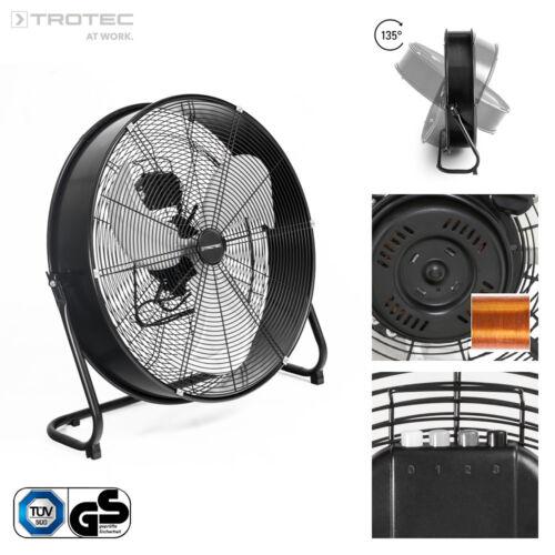 TROTEC Bodenventilator TVM 24 D Windmaschine Lüfter Metall 124 Watt 60 cm