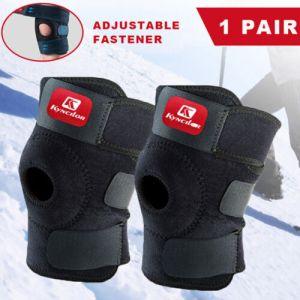 2x Knee Brace Support Adjustable Elastic Sport Compression Sleeve Arthritis