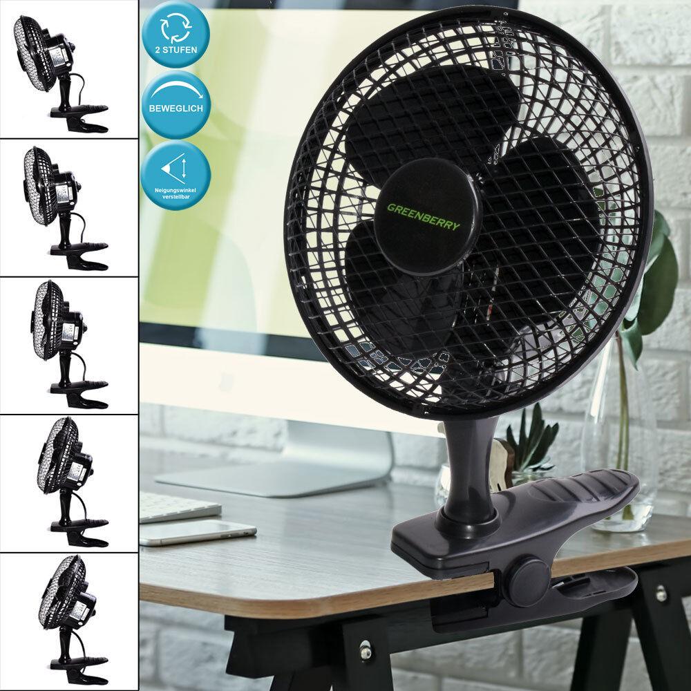 Tisch Ventilator Arbeits Zimmer Stand Kühler schwarz Klemm Lüfter verstellbar