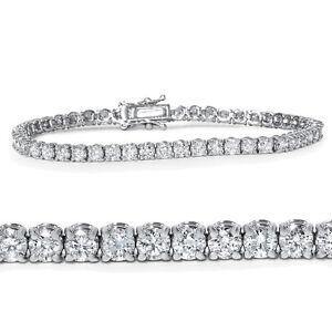 "4.00CT Natural Diamond Tennis Bracelet 14K White Gold 7"""