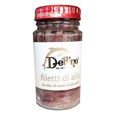 Sardellenfilets Filetti di alici -  Premium Sardellen - Delfino - 130g - Italien