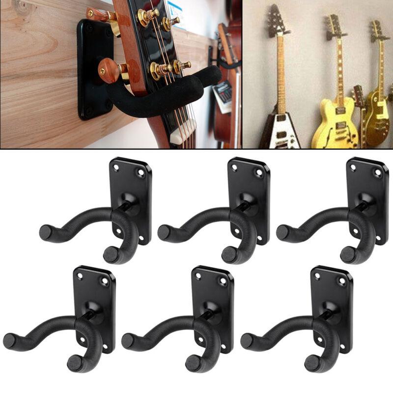 6 tlg Gitarrenhalter Wandhalter Gitarrenwandhalter Wand Halterung Ständer Stativ