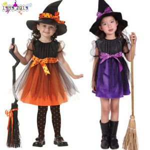 Toddler Kids Baby Girls Halloween Costume Bowknot Dress Party Dresses+Hat Outfit