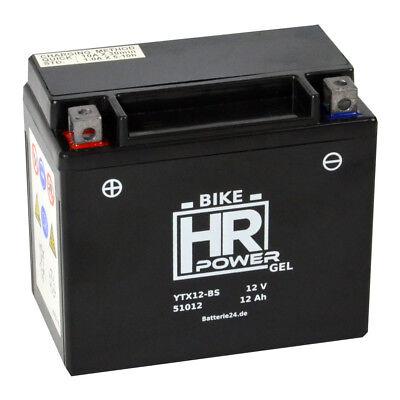 Motorradbatterie Gel 12V 12Ah 51012 YTX12-BS CTX12-BS GTX12-BS GEL12-12-BS