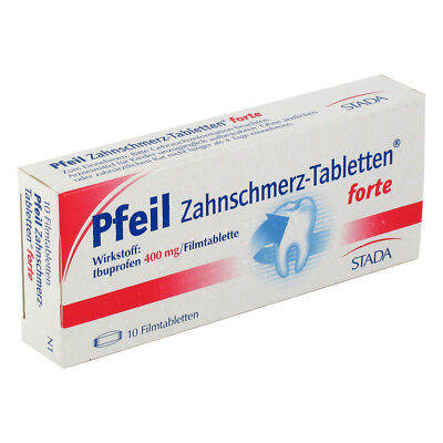 Pfeil Zahnschmerz-Tabletten forte 400mg 10stk PZN 00410554