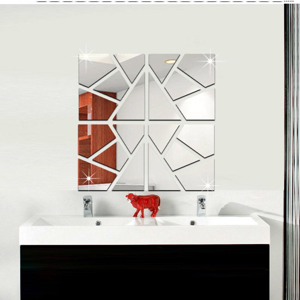 Spiegel Scherben Deko Spltter Mosaik Goldspiegel Kunststoff PS mit Klebepunkt