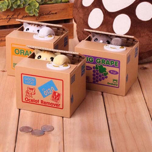Kreativ! Elektrische Spardose Kinder Sparbüchse süß Panda / Katze stiehlt Münzen