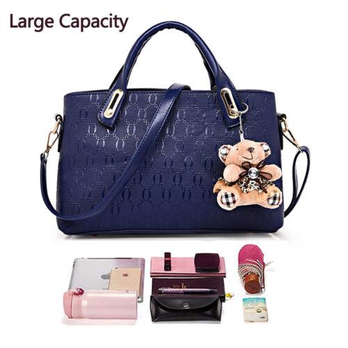 5Pcs/Set Women Lady Leather Handbags Messenger Shoulder Bags Tote Satchel Purse 4