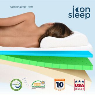 """10"""" Cooling & Gel Infused Memory Foam Mattress Bed TWIN XL FULL QUEEN KING Firm"""