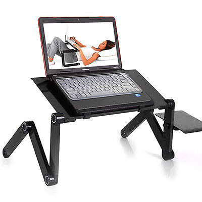 Durable Portable Foldable Notebook Laptop Desk Table Stand Bed Tray W/Cup Pad