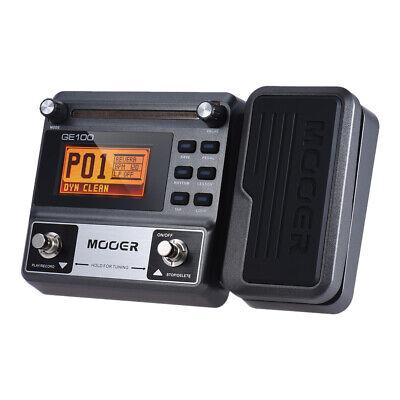 MOOER GE100 Processor Guitar Multi-Effects Pedal Loop Distortion Sound Drum T2F0