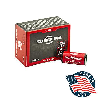SureFire 123A CR123A 3 Volt Lithium Batteries - 12 Pack! EXP in 02/2029