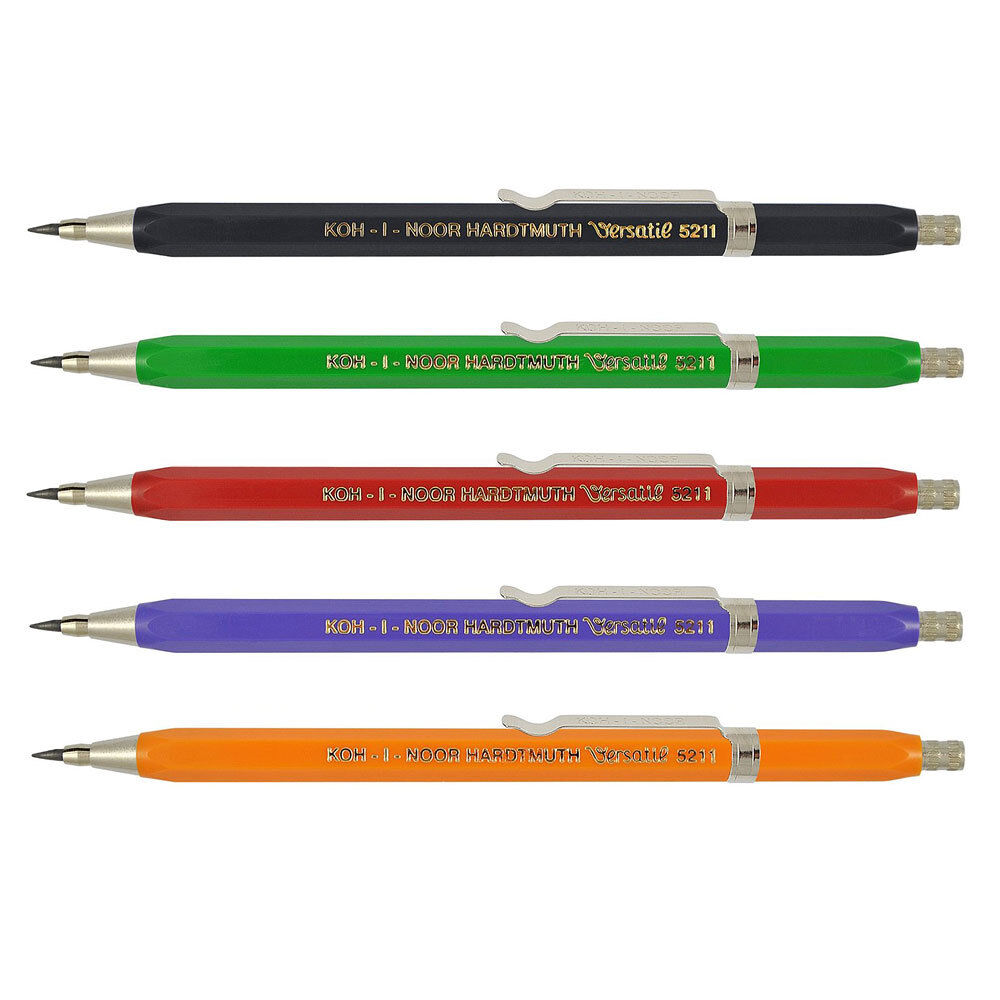 Druckbleistift Bleistift 2 mm KOH-I-NOOR 5211 CLIP Fallminenstift Fallbleistift