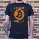 I Accept Bitcoin T-Shirt (Mens)