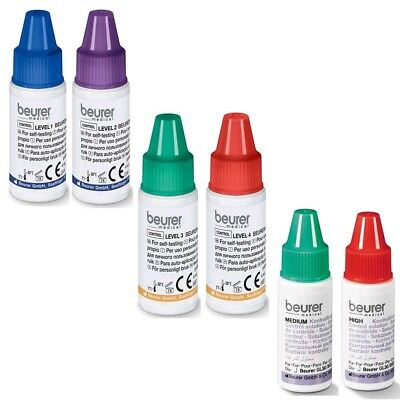 Kontrolllösung für Blutzuckermessgeräte GL30, 32, 34, GL40, GL44, 55 2x 4 ml