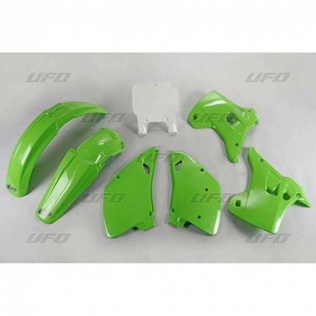 kit plastiche carene Ufo Plast Kawasaki Kx 125 / 250 1993 verde KA KIT194 999