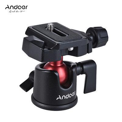 Andoer Mini Panorama Kugelkopf Stativ+Schnellwechselplatte FüR Canon Nikon Sony
