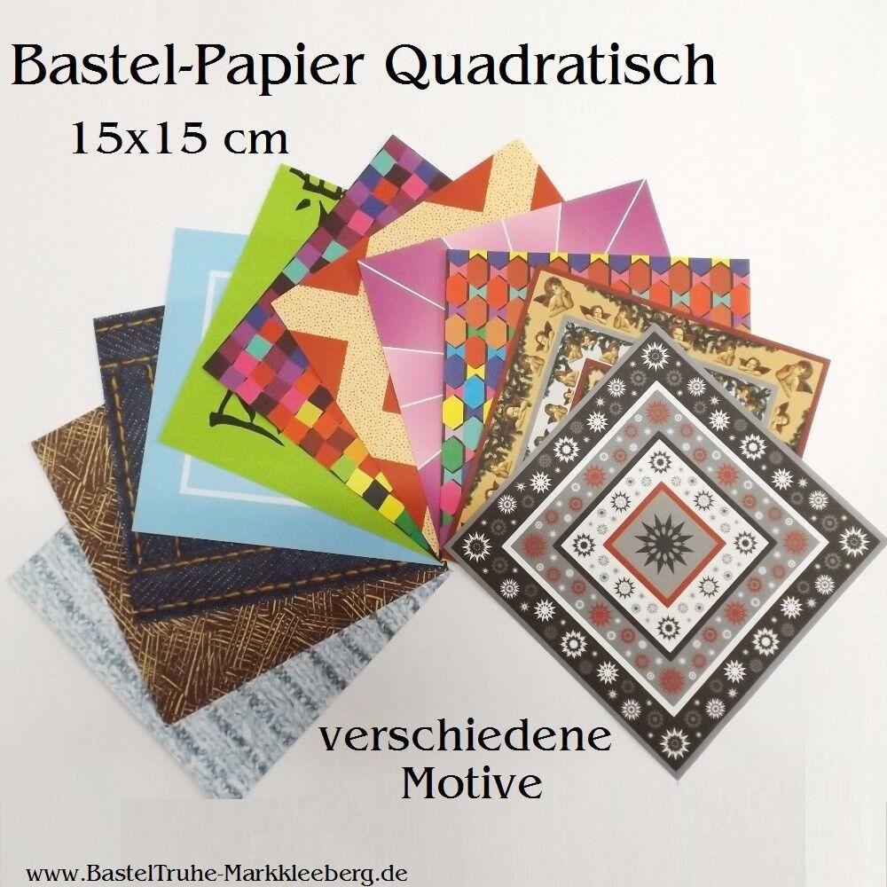 Bastel-Papier Origami-Papier Basketta-Sterne-Papier Faltpapier viele Motive 15cm