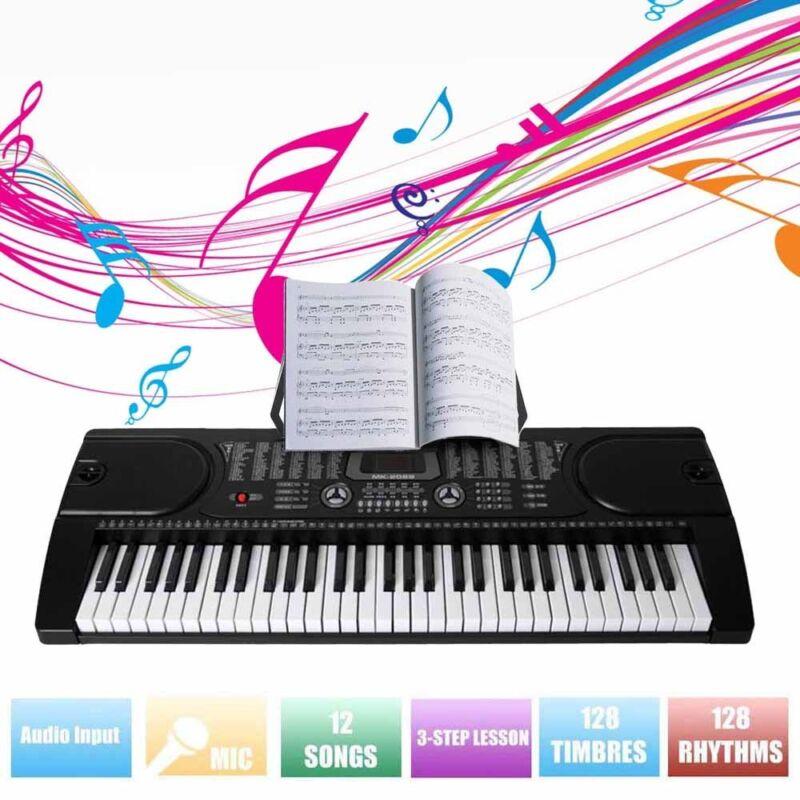 61 Leucht Tasten Keyboard E-Piano Lern Klavier 255 Sounds & Rhythmen MP3