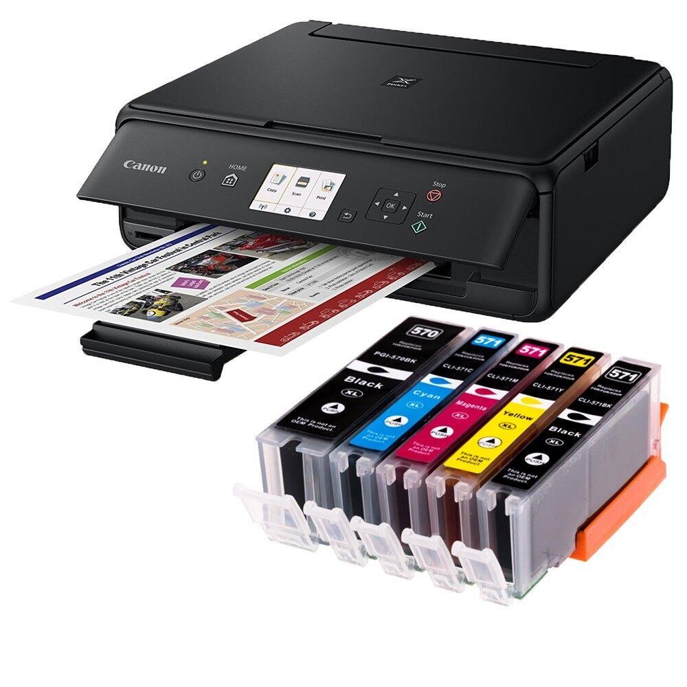 Canon Pixma TS5050 AirPrint Multifunktionsdrucker Scanner + WLAN 5x XL Tinte USB
