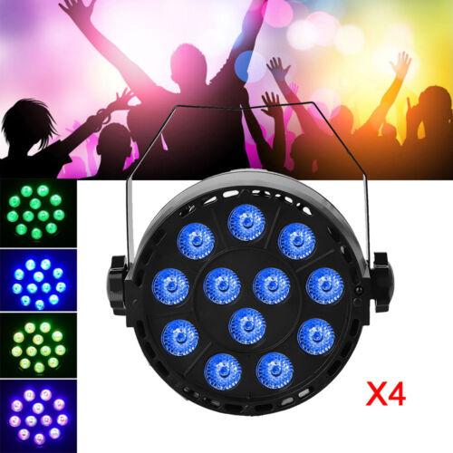 4X 18W RGB LED Bühnenlicht PAR 7CH Bühnenbeleuchtung Lichteffekt DMX512 DJ Disco