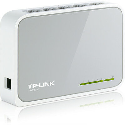 TP-LINK TL-SF1005D 5 Port Netzwerk Verteiler 10/100 Switch HUB LAN DSL DHL Paket