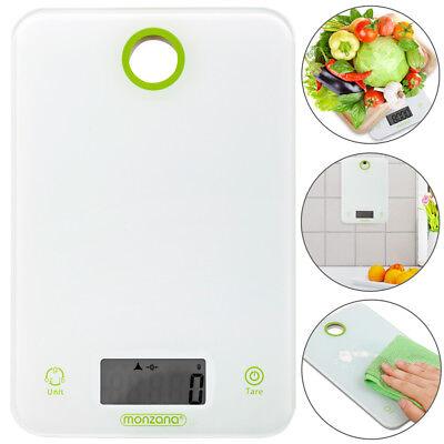 monzana® Küchenwaage Briefwaage Feinwaage Digitalwaage weiß digital 8 kg/1g Tara