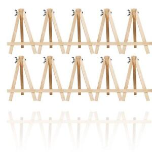10x MINI WOODEN ARTIST EASEL FOR ARTWORK DISPLAY TABLE 5.6 Inch