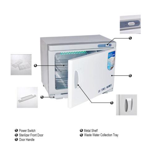 UV Handtuchwärmer  23L Kompressenwärmer UV-Licht Sterilisator Handtuchablage