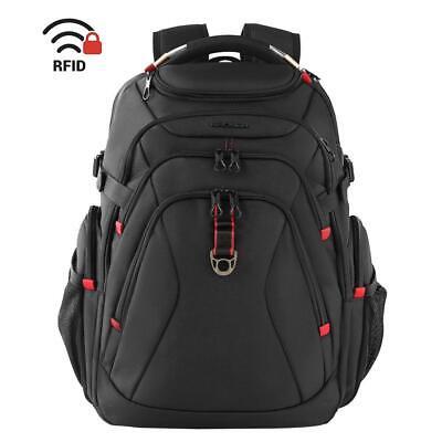KROSER Travel Laptop Backpack 17.3 Inch XL Heavy Duty Water Repellent Black