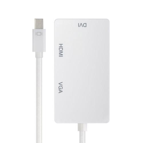 Mini Display Port Thunderbolt zu HDMI VGA DVI Adapter 1 in 3 out für MacBook Pro