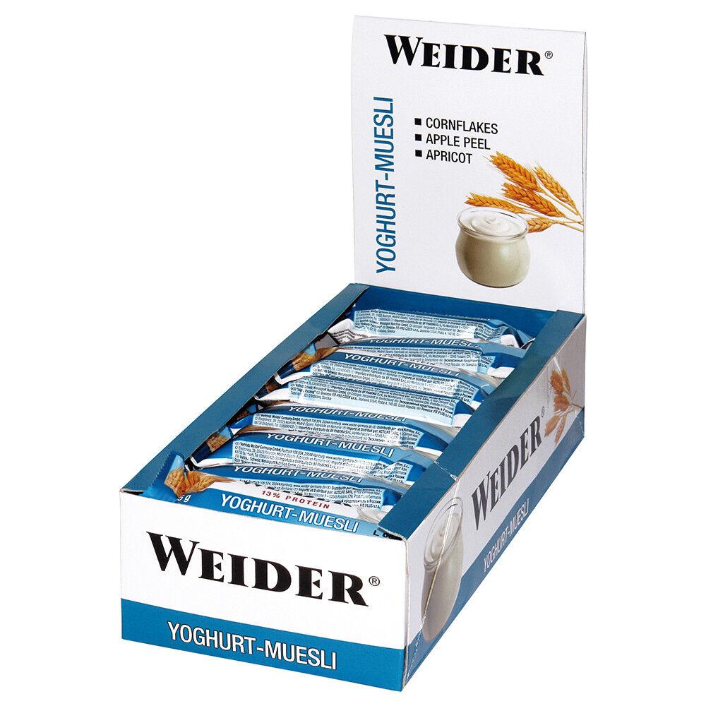 (24,00€/kg) Weider Plus Protein Energy Bar Riegel 24x 35g verschiedene Sorten