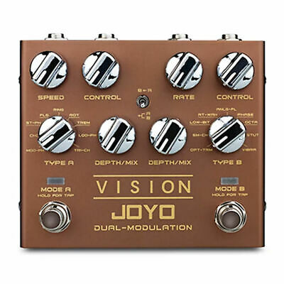 JOYO R-09 VISION Dual Modulation Guitar Effects Pedal Revolution R Series New